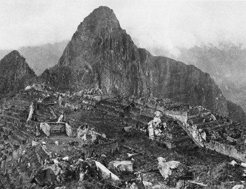 Ruins of Machu Picchu in 1911