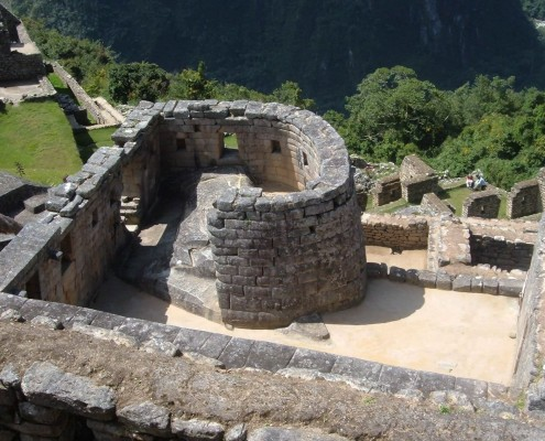 The sun temple in Machu Picchu