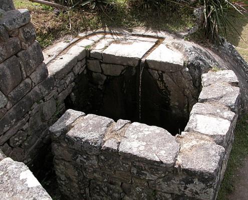 Fountain Machu Picchu