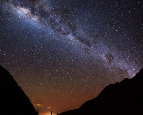 Night sky over Machu Picchu