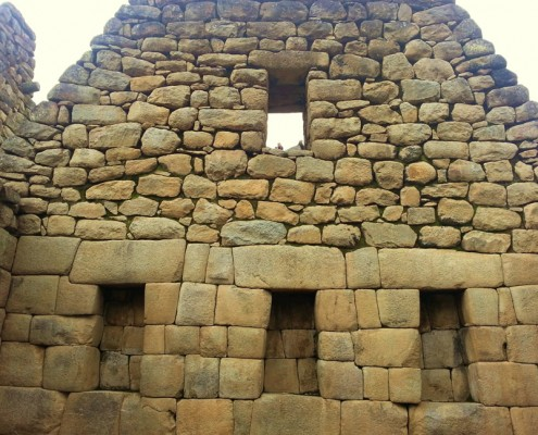 Der Ñusta Palast von Machu Picchu