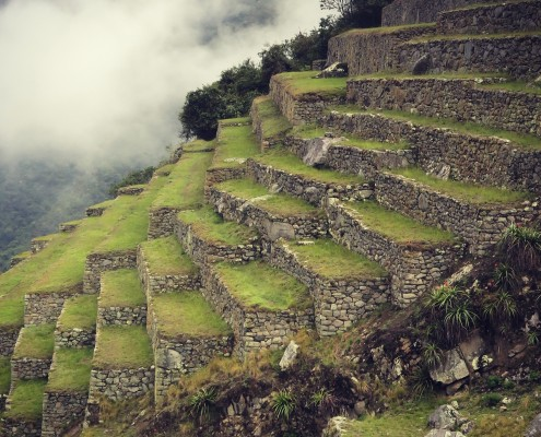 Perfect foundation in Machu Picchu
