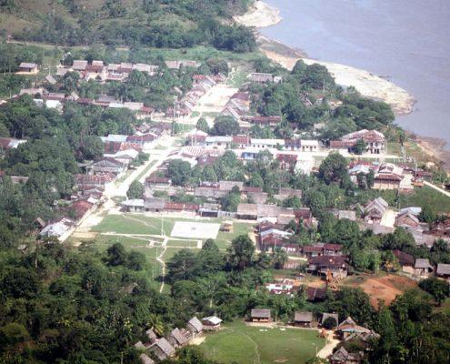 Vista de Iquitos y el Amazonas.