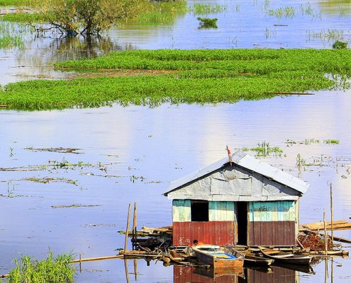 Iquitos Schwimmende Häuser auf dem Amazonas
