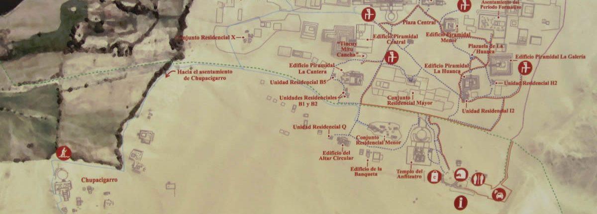 Karte Caral