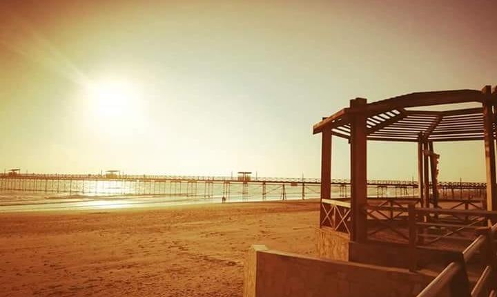 Puesta de sol en playa Pimentel Chiclayo