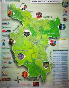 Karte der Region San Martín