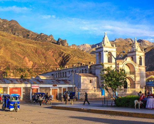 Chivay – the entrance to Colca Canyon