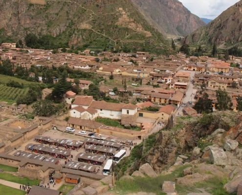 View of Ollantaytambo