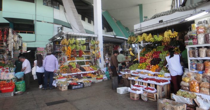 The hustle and bustle in the markets of Lima