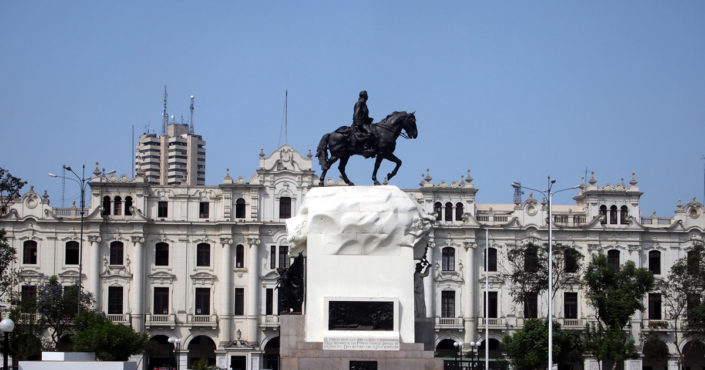 The Plaza de San Martín - a reminder of Lima's struggle for independence
