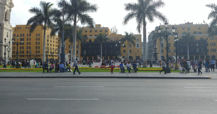Meeting point of Lima Plaza de Armas