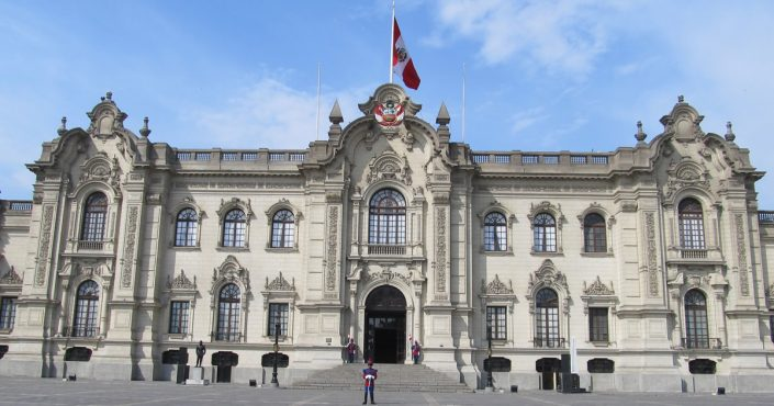 The Palacio de Gobierno del Peru in Lima Government Palace
