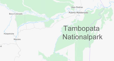 National Park Tambopata Map