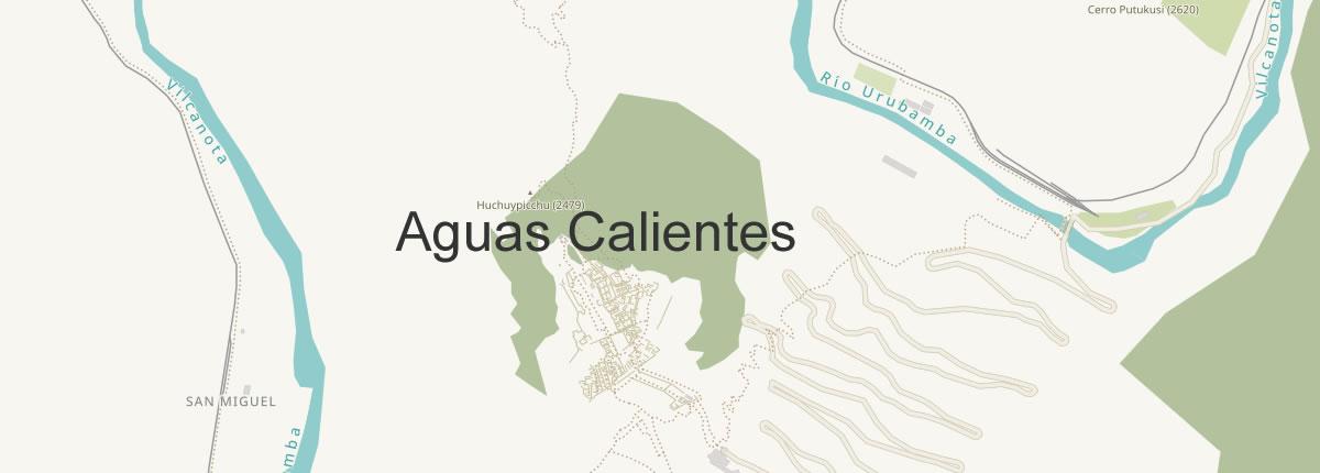 Agua Calientes Map