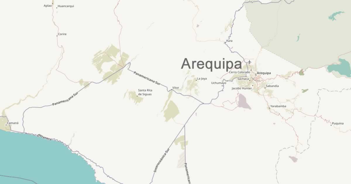 Arequipa map