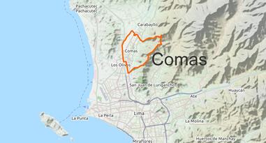 Comas Lima Map