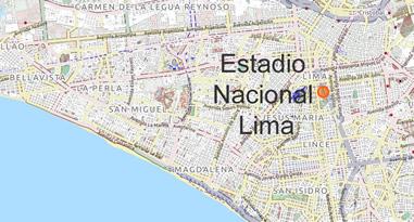 Estadio Nacional Lima Peru Map
