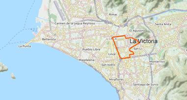 La Victoria Map