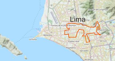 Lima Peru Map