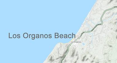 Los Organos Beach Peru Map