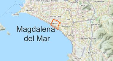 Magdalena del Mar Map