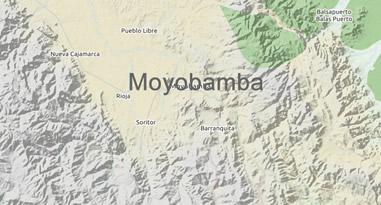 Map Moyobamba Peru