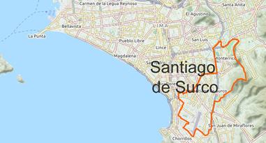 Santiago de Surco Map