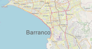 barranco lima Map