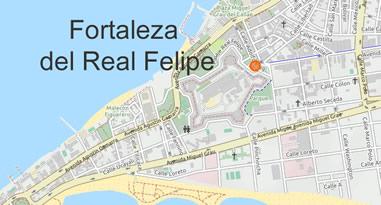 Fortaleza del Real Felipe Lima Callao Peru Map