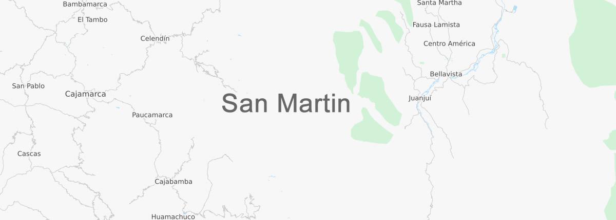 Map San Martin